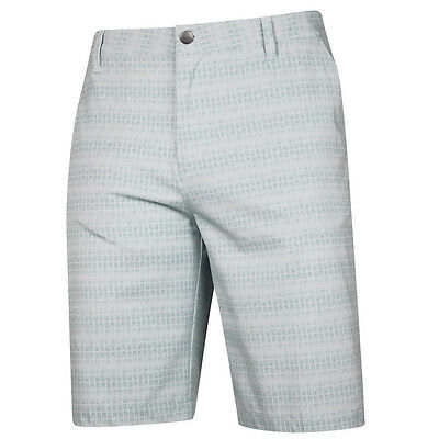Adidas Ultimate Dot Plaid Mens Golf Shorts - Grey