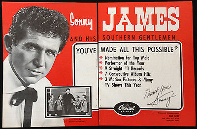 Sonny James - 2 Page Advert From 1966 Billboard World Of Country Music