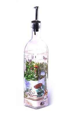 Cooking Oil Bottle with Spout, 500ml, Motive Herbary