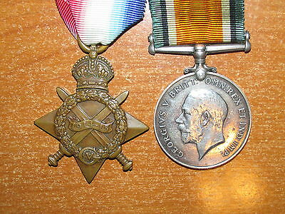 WW1 British Medal Group Pair to Royal Welsh Fusiliers nice