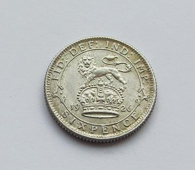 George V silver Sixpence 1926 - Excellent collectable coin about uncirculated