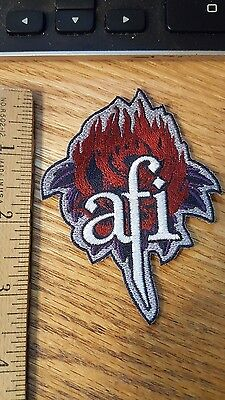AFI A Fire Inside Rose Die Cut Logo RARE Davey Havok Sew/Iron-On Patch Badge-New