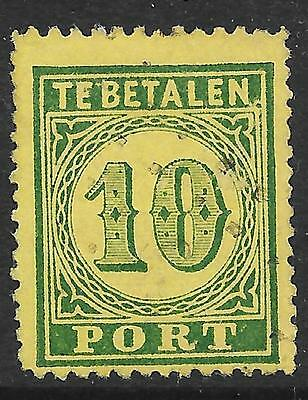 Netherlands Indies stamps 1874 NVPH P2f  ERROR PhotoAttest Muis  CANC  VF