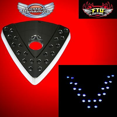 Custom Dynamics Victory LED Cheese Wedge Emblem Chrome GEN-VIC-WEDGE-C
