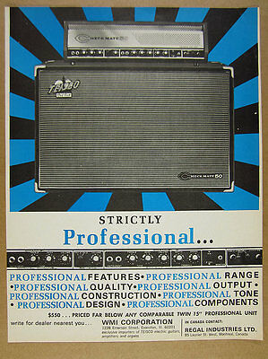 1966 Teisco Checkmate 50 Amp Amplifier photo vintage print Ad