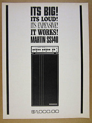 1966 Martin SS140 SS 140 Amplifier guitar amp vintage print Ad