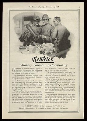 1917 Nettleton Military Footwear US Army boots art vintage print ad