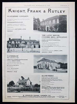 The Long House Coombe Hill Kingston & Park Cottage Whitchurch Hampshire 1968