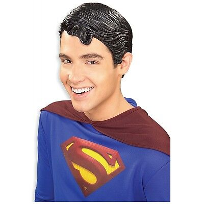 Superman Deluxe Vinyl Costume Wig Adult Mens Superhero Super Friends Halloween