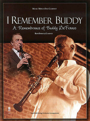 I Remember Buddy DeFranco Clarinet Solo Sheet Music Minus One Play-Along Book CD