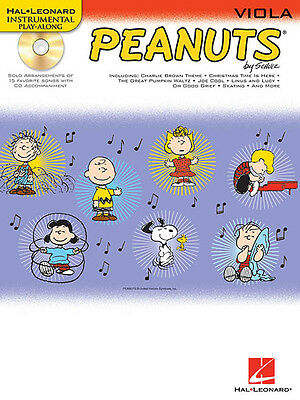 Peanuts for Viola Solo Sheet Music 15 Kids TV Songs Play-Along Book CD Pack NEW