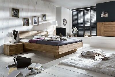 doppelbett bett 200x200 mit schubk sten wildeiche holz. Black Bedroom Furniture Sets. Home Design Ideas