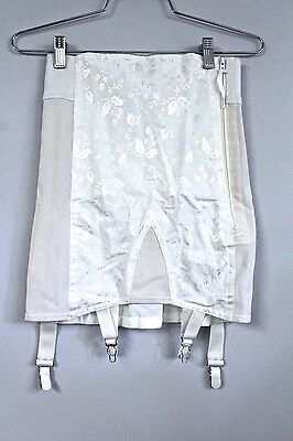 VTG Montgomery Ward  Open Bottom Girdle 4 Garters Size 27 S M NOS White w Zipper