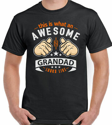 This Is What An Awesome Grandad Looks Like Mens Funny Fathers Day T-Shirt D2