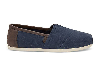 TOMS New Season Mens Navy Washed Canvas Classics  Espadrilles Various Sizes