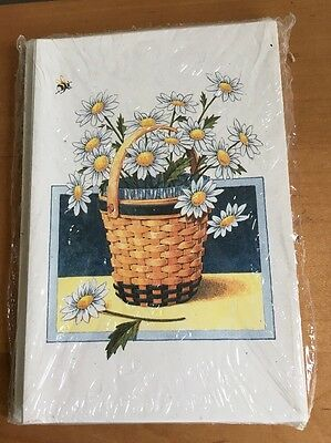 Longaberger May Flower Series Daisy Basket Note Cards - Set of 10