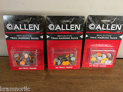 Allen Reflective Trail Marking Tacks ~ 50 Count ~ 3 Pack ~ Hunting ~ Hiking ~New