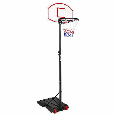 BCP Kids Portable Height-Adjustable Basketball Hoop System Stand - Black