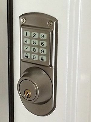 Code-A-Key Electronic Keyless Door Lock Deadbolt System - Satin Nickel