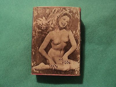 Vintage 1940's Box of Wood Matches Nude Pin-up Girl Sunoco Gas& Oil Windber, Pa.