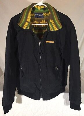 Vintage 1999 John Deere Fleece Lined Jacket Men's S Nordic Pattern Lining USA