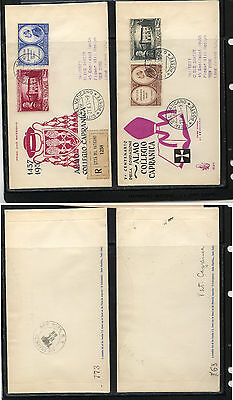 Vatican City  2 Venetia cachet first day covers to US             MS0206