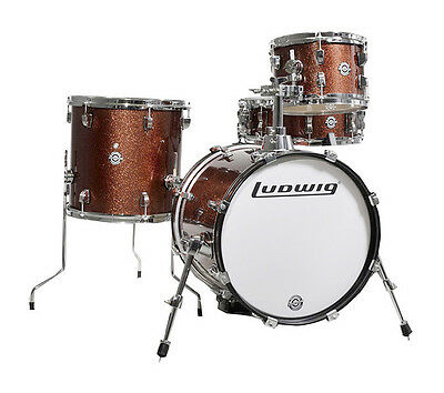 Ludwig Breakbeats Questlove Drum Kit, Wine Red Sparkle (NEW)