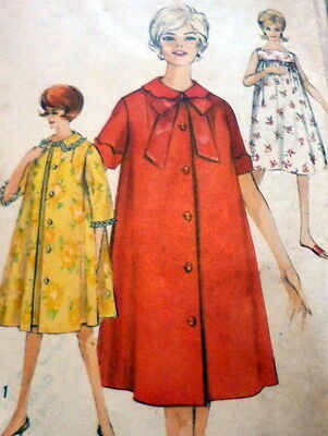 LOVELY VTG 1960S NIGHTGOWN & ROBE Sewing Pattern 14/34 - $6.99 ...