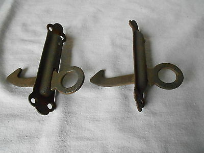 PAIR French ANTIQUE Iron WINDOW Shutter STOPPERS