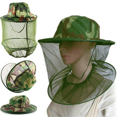 Insect Mosquito Net Mesh Head Face Fishing Hunting Hat Protector Cap Camouflage