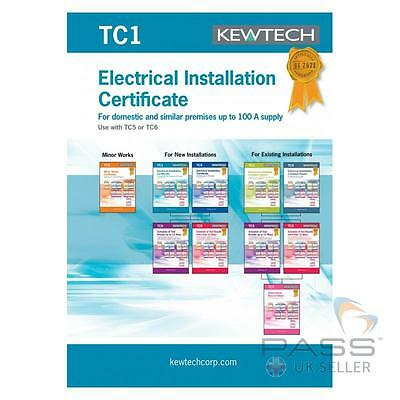 Kewtech TC1 Electrical Installation Certificates - 40 Sheets