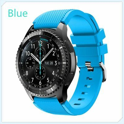 Light Blue Silicone Strap Wrist Band For Samsung Gear S3 Frontier Classic Watch