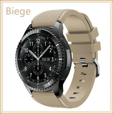 Beige Silicone Strap Wrist Band For Samsung Gear S3 Frontier Classic Watch