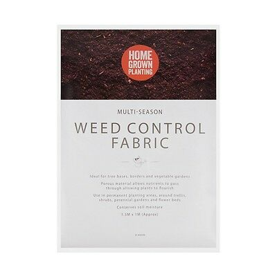 1m x 1.5m Weed Control Ground Cover Membrane Landscape Fabric Material Nutrients