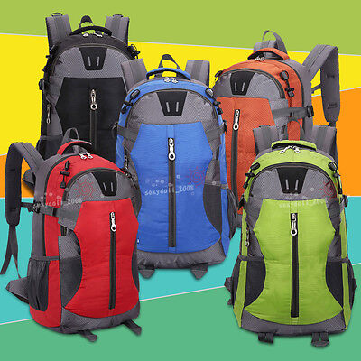 New UK 40L Outdoor Camping Cycle Hiking Backpack Waterproof Rucksack Bike Bag