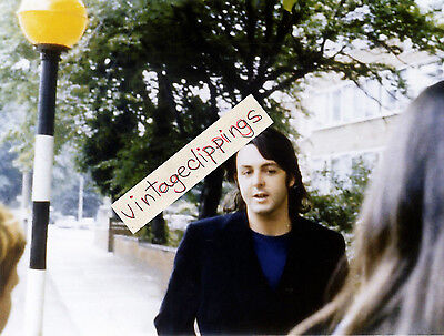 PAUL McCARTNEY in Abbey Road London 1969 candid fan photo 11x15cm beatles