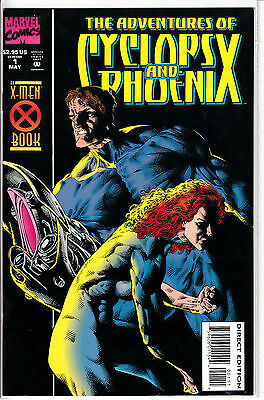 Lot of Marvel Comics #'s 1-3 The Adventures of Cyclops and Phoenix VF
