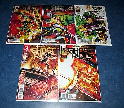 ROBBIE REYES GHOST RIDER #1 2 3 4 5 1st print set MARVEL 2017 agents of shield