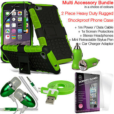 Shockproof Protection Heavy Duty Tough Phone Case Cover✔Accessory Pack✔Green