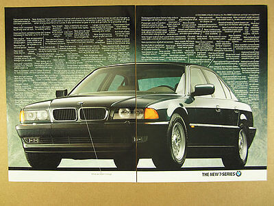 1995 BMW 7-Series Sedan details of changes car photo vintage print Ad