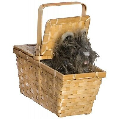 Deluxe Toto in Basket Costume Accessory Adult/Kid Dorothy Wizard of Oz Halloween