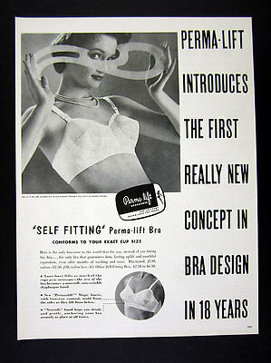 1958 Perma-Lift Bras Pretty Woman in Bra photo vintage print Ad