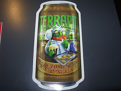 TERRAPIN Athens Georgia Wake N Bake Can STICKER decal craft beer brewing brewery