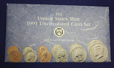 1991 UNCIRCULATED Genuine U.S. MINT SETS ISSUED BY U.S. MINT