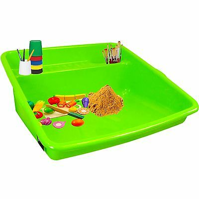 Good Quality Children Kids Large Plastic Colour Mixing Play Tray Lime Green UK