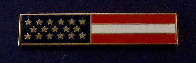 US Flag GOLD Uniform Award/Commendation Bar Pin Police/Sheriff/Fire/EMS USA MADE