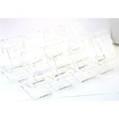 8 Clear Acrylic Watch Display Stands