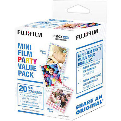 Fujifilm Instax Mini Party Value Pack Instant Film 20 Color Prints