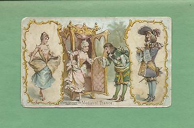 Scenes From MEDIEVAL FRANCE On ARBUCKLE'S COFFEE #49 Victorian Trade Card