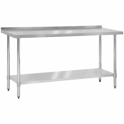 "72"" x 24"" Stainless Steel Work Prep Table W Backsplash Commercial Kitchen"